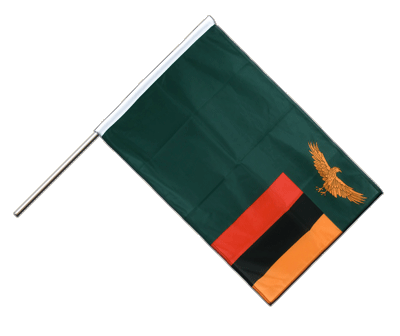 Hand Waving Flag PRO Zambia - 2x3 ft (60 x 90 cm)