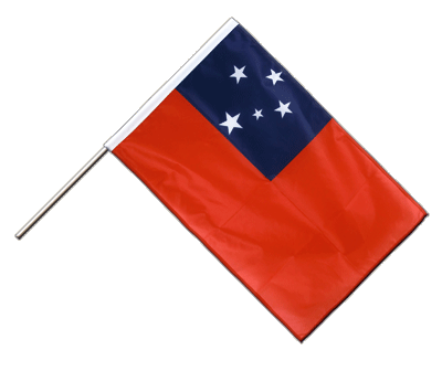 Hand Waving Flag PRO Samoa - 2x3 ft (60 x 90 cm)