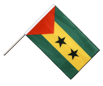 Hand Waving Flag PRO Sao Tome and Principe - 2x3 ft (60 x 90 cm)