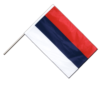 Hand Waving Flag PRO Serbia - 2x3 ft (60 x 90 cm)