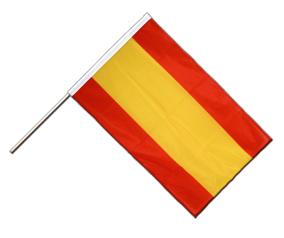 Hand Waving Flag PRO Spain without crest - 2x3 ft (60 x 90 cm)