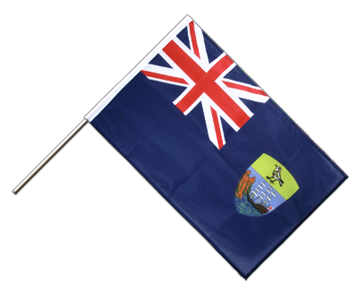 Hand Waving Flag PRO Saint Helena - 2x3 ft (60 x 90 cm)