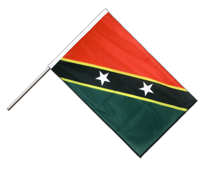 Hand Waving Flag PRO Saint Kitts and Nevis - 2x3 ft (60 x 90 cm)