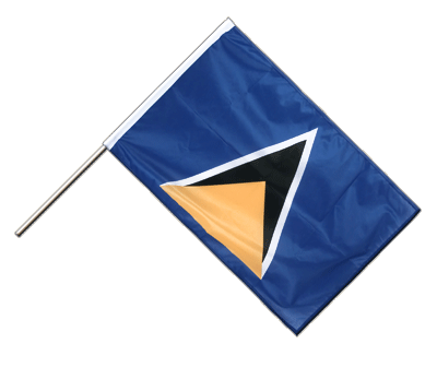 Hand Waving Flag PRO Saint Lucia - 2x3 ft (60 x 90 cm)