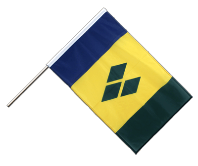 Hand Waving Flag PRO Saint Vincent and the Grenadines - 2x3 ft (60 x 90 cm)