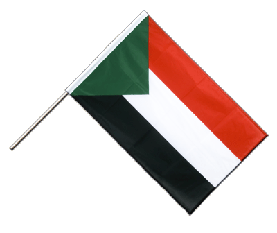 Hand Waving Flag PRO Sudan - 2x3 ft (60 x 90 cm)