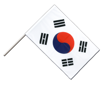 Hand Waving Flag PRO South Korea - 2x3 ft (60 x 90 cm)