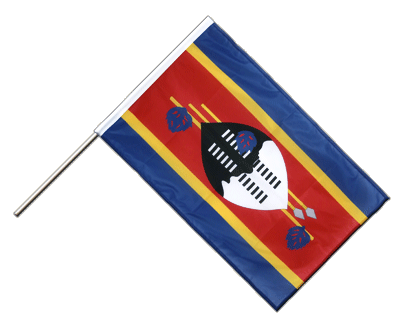 Hand Waving Flag PRO Swaziland - 2x3 ft (60 x 90 cm)