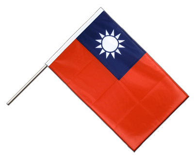 Hand Waving Flag PRO Taiwan - 2x3 ft (60 x 90 cm)