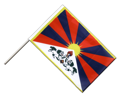 Hand Waving Flag PRO Tibet - 2x3 ft (60 x 90 cm)