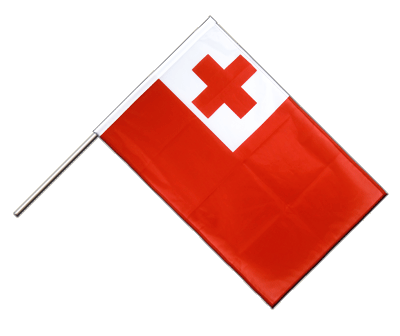 Hand Waving Flag PRO Tonga - 2x3 ft (60 x 90 cm)