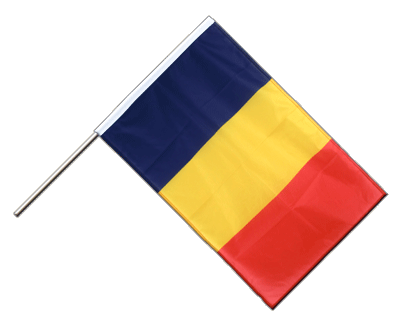 Hand Waving Flag PRO Chad - 2x3 ft (60 x 90 cm)