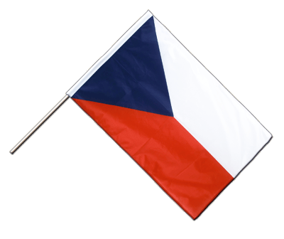 Hand Waving Flag PRO Czech Republic - 2x3 ft (60 x 90 cm)