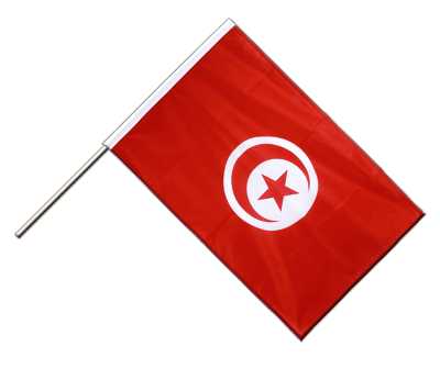 Hand Waving Flag PRO Tunisia - 2x3 ft (60 x 90 cm)