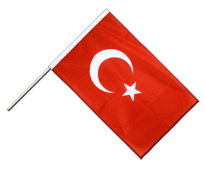 Hand Waving Flag PRO Turkey - 2x3 ft (60 x 90 cm)