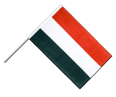 Hand Waving Flag PRO Hungary - 2x3 ft (60 x 90 cm)