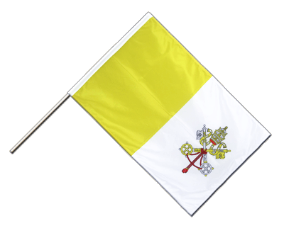 Hand Waving Flag PRO Vatican - 2x3 ft (60 x 90 cm)