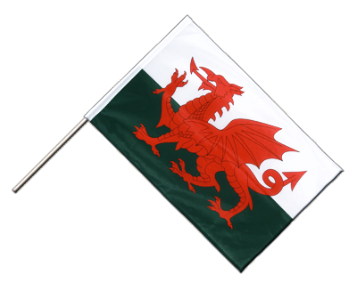 Hand Waving Flag PRO Wales - 2x3 ft (60 x 90 cm)