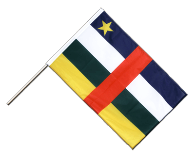 Hand Waving Flag PRO Central African Republic - 2x3 ft (60 x 90 cm)