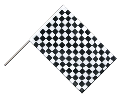Hand Waving Flag PRO Checkered - 2x3 ft (60 x 90 cm)