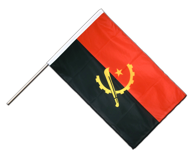 Hand Waving Flag PRO Angola - 2x3 ft (60 x 90 cm)