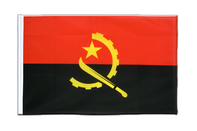 Sleeved Flag ECO Angola - 2x3 ft