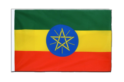 Sleeved Flag ECO Ethiopia with star - 2x3 ft
