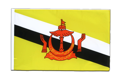 Sleeved Flag ECO Brunei - 2x3 ft