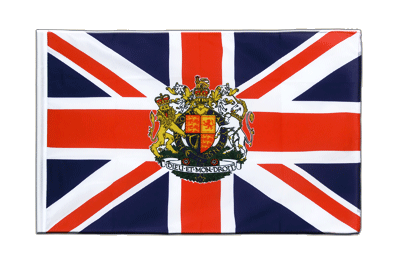Sleeved Flag ECO Great Britain with crest - 2x3 ft