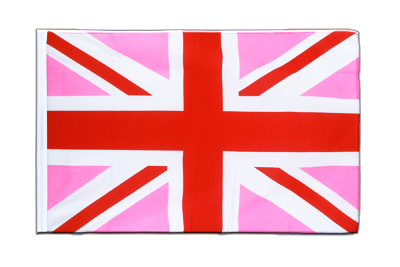 Sleeved Flag ECO Union Jack pink - 2x3 ft