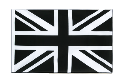 Pavillon Union Jack noir Fourreau ECO 60x90 cm