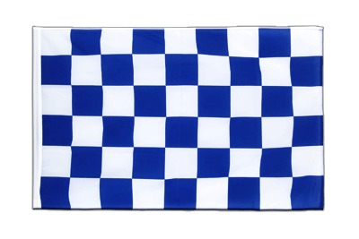 Sleeved Flag ECO Checkered blue-white - 2x3 ft