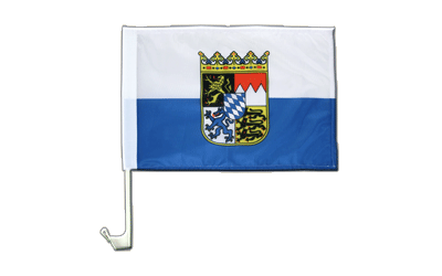 Bavaria Dienstflagge Car Flag - 12x16""