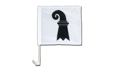 Car Flag Basel-Stadt - 12x12""