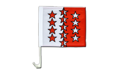 Car Flag Valais - 12x12""