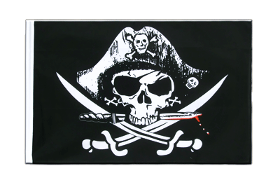 Sleeved Pirate with bloody sabre Flag ECO - 2x3 ft