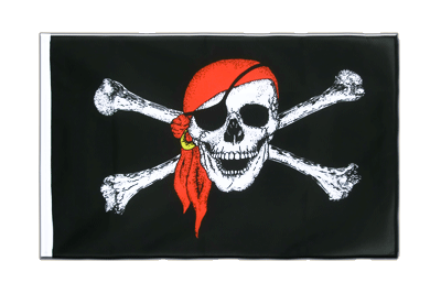 Pavillon Pirate avec foulard Fourreau ECO 60x90 cm