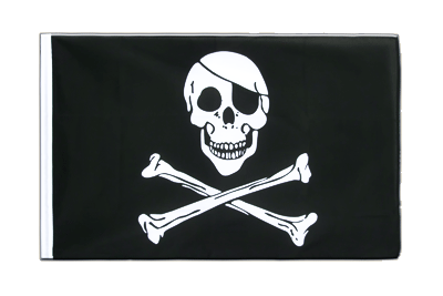 Pirat Skull and Bones Flagge - 60 x 90 cm Hohlsaum ECO