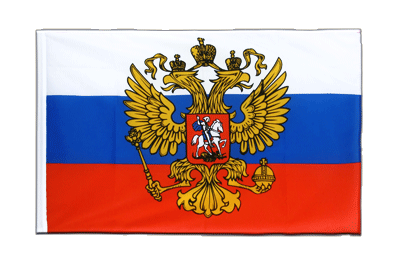 Sleeved Flag ECO Russia with crest - 2x3 ft