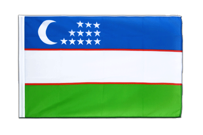 Sleeved Flag ECO Uzbekistan - 2x3 ft