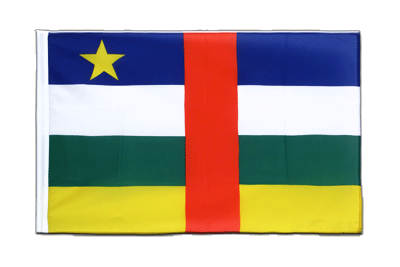 Sleeved Flag ECO Central African Republic - 2x3 ft