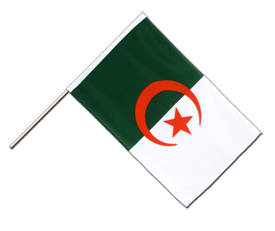 Hand Waving Flag ECO Algeria - 2x3 ft