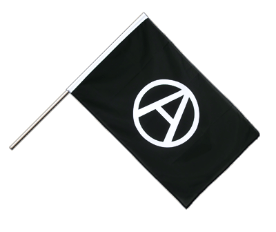 Anarchie - Stockflagge ECO 60 x 90 cm