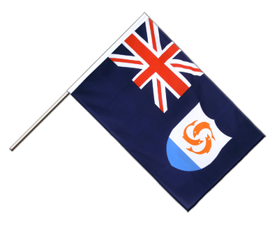 Hand Waving Flag ECO Anguilla - 2x3 ft