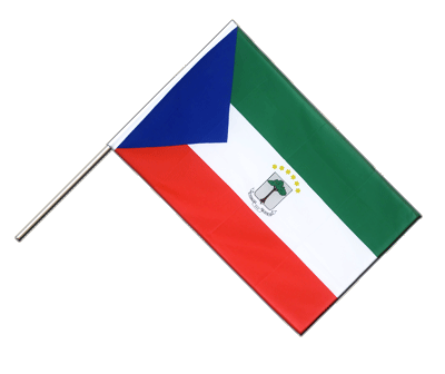 Hand Waving Flag ECO Equatorial Guinea - 2x3 ft