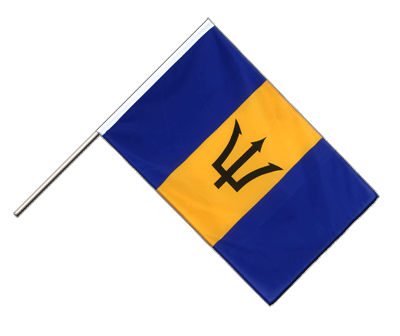 Hand Waving Flag ECO Barbados - 2x3 ft