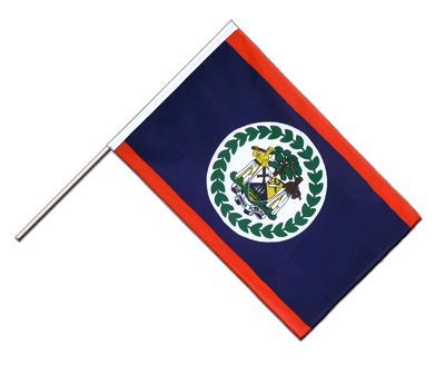 Hand Waving Flag ECO Belize - 2x3 ft