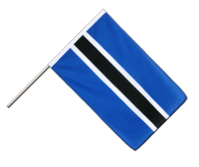 Hand Waving Flag ECO Botswana - 2x3 ft