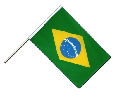 Hand Waving Flag ECO Brazil - 2x3 ft