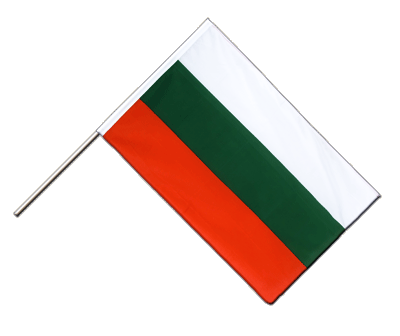 Hand Waving Flag ECO Bulgaria - 2x3 ft
